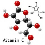 18083154-structural-model-of-vitamin-c-molecule